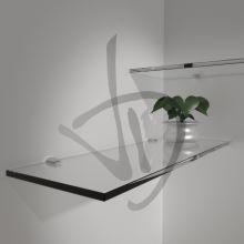 Regale in transparentem Glas, maßgeschneiderte