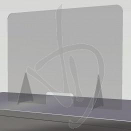 Barriera parafiato in Plexiglass Trasparente su misura, con passacarte
