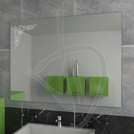 Specchio parete, con decoro A031