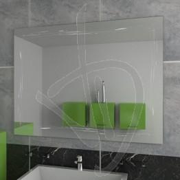 Specchio a muro, con decoro A034