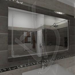 Specchio bagno, con decoro B004