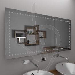 Specchio senza cornice, con decoro B015
