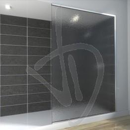 Vetro doccia nicchia, su misura, in vetro stampato C