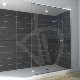 Vetro doccia nicchia, su misura, in vetro trasparente extrachiaro