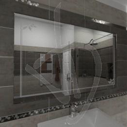 Specchio da parete, con decoro C014