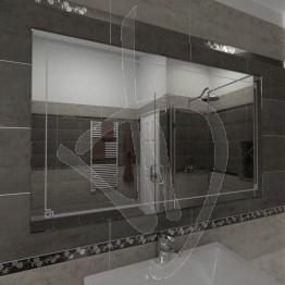 Specchio parete, con decoro C016