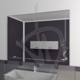 Specchio per bagno, con decoro C023
