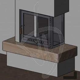 Struttura Angolare in ferro (angolo 90° a destra)