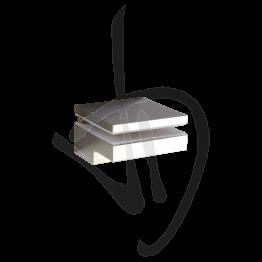 Reggimensola per carichi leggeri, Misure H47/77xL80xP80, Sp. 6-40 mm