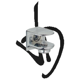 Reggimensola per carichi leggeri, Misure 21xP21mm, Spessore vetro 6-11 mm