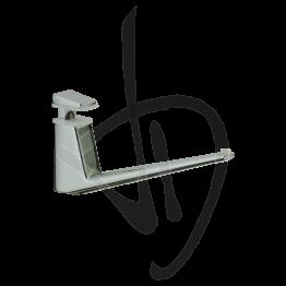 Reggimensola per carichi medi, Misure H60/72xP140 mm, Spessore vetro 6-18 mm