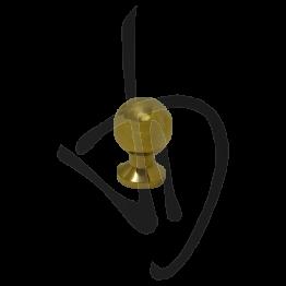 Pomolo sferico in ottone lucido D.23 L35