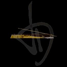 Portaincenso in vetro di Murano, toanalità bronzata, realizzato a mano