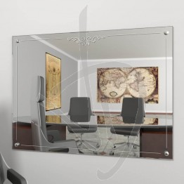 Specchio vintage, con borchie e decoro B022