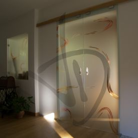 Porte in vetro su misura